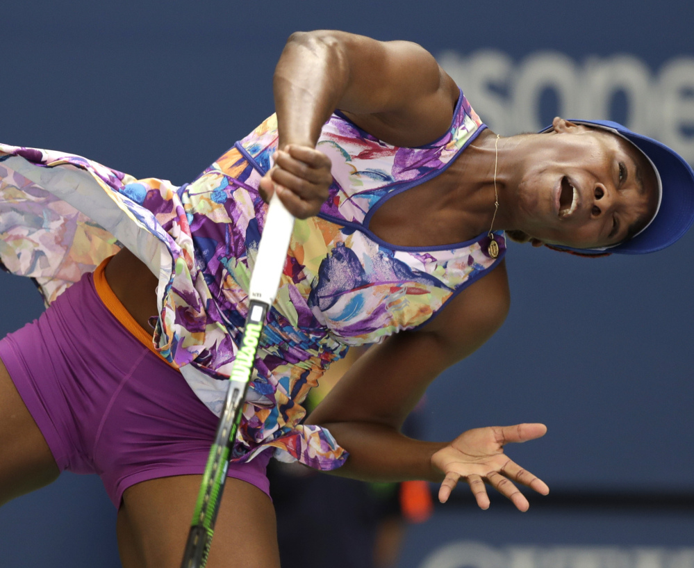 Venus Williams, 36, would have become the oldest woman to reach the U.S. Open quarterfinals since Martina Navratilova in 1994, but lost Monday to Karolina Pliskova at New York.