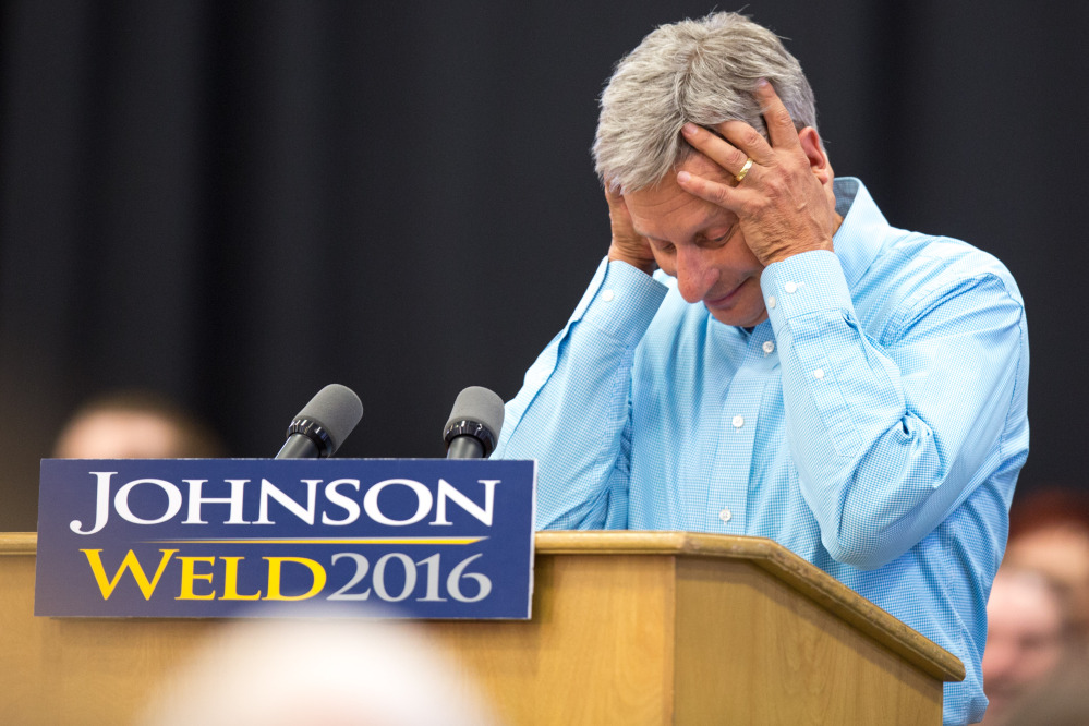 Libertarian presidential candidate Gary Johnson likely regrets the question he asked of