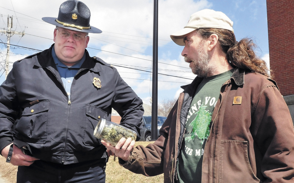 "Question 1 is the result of legalization efforts such as the 2013 ""smoke-in"" that drew Skowhegan Deputy Chief Dan Summers and medical marijuana patient Donald Christen to the Somerset County Courthouse."