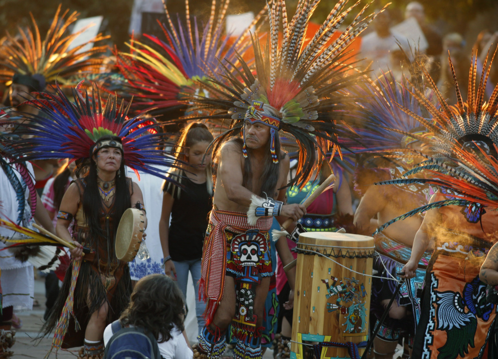 A rally Thursday at the State Capitol in Denver, Colo., showed solidarity with the Standing Rock Sioux tribe in North Dakota over the construction of the Dakota Access oil pipeline.