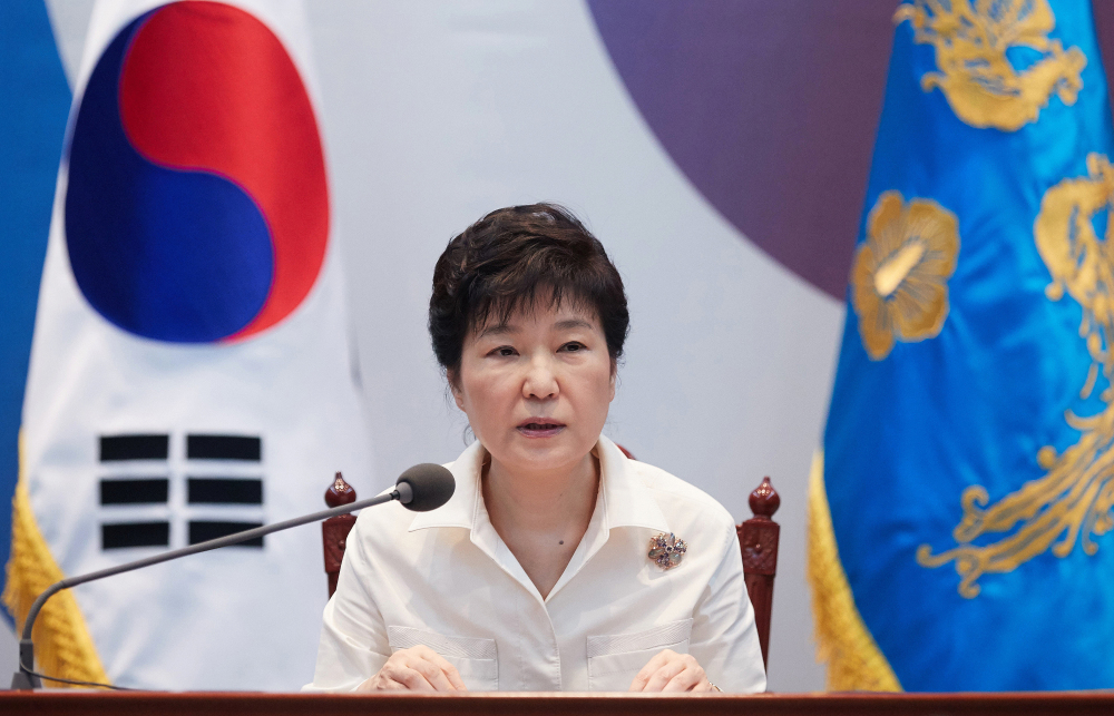 South Korean President Park Geun-hye speaks Friday in Seoul during an emergency meeting to discuss follow-up measures to respond to North Korea's nuclear test.