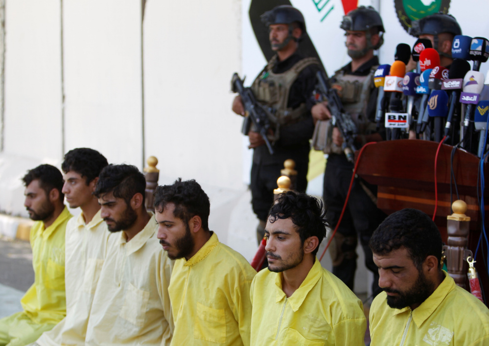 Fewer men like these – who according to the Iraqi security forces are suspected Islamic State militants – are joining up to fight for the idea of an Islamic State caliphate.