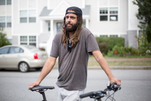 PORTLAND, ME - SEPTEMBER 8: Brandon Sweeney, who lives on North Street, talks about the odor from East End Sewage Treatment Plant. (Photo by Derek Davis/Staff Photographer)