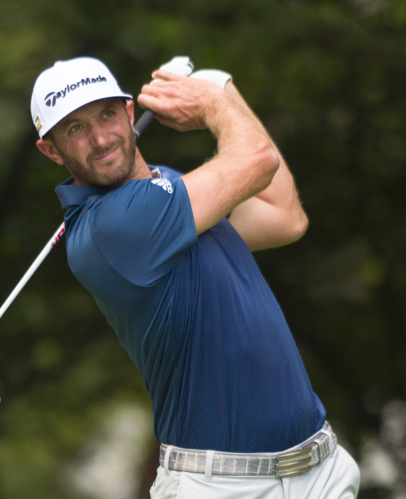 Dustin Johnson, hitting his tee shot on the second hole Sunday, shot a final-round 67 and won for the third time in his last eight tournaments.