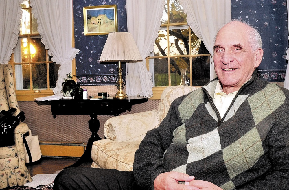 Kennebec County Probate Judge Jim Mitchell, shown here in 2010 in his Vassalboro home when his wife Libby was running for governor, died Friday at age 74.