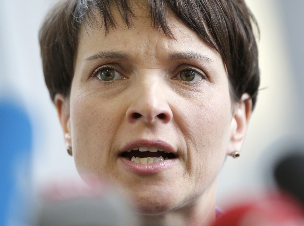 Frauke Petry has come under fire after calling for a racially charged term once favored by the Nazis to be rehabilitated.