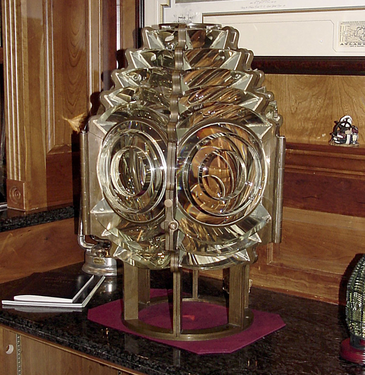 The missing 120-year-old Fresnel lens was installed in 1897 at the Spring Point Ledge Lighthouse and served as a beacon for mariners coming into Portland Harbor. Photo courtesy of the Spring Point Ledge Lighthouse Trust