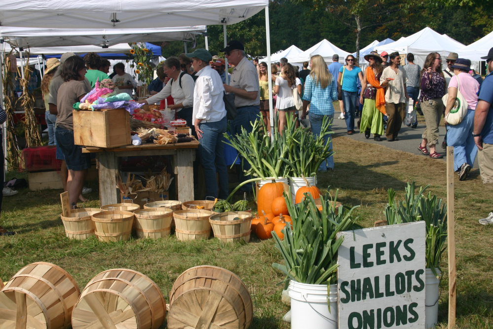 This year's organic farmers markets at the Common Ground Fair will feature 38 farm stands.