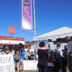 Last year, Heiwa Soy Beanery won a blue ribbon for its vegan tofu fries, which will be offered again this year along with flavored soy milks.