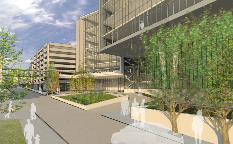 The proposed new entrances to Maine Medical Center.