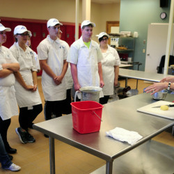 Heidi Parent teaches Friday at the Capital Area Technical Center in Augusta. Meanwhile, she's vying for a $250,000 head chef job at The Venetian Las Vegas.