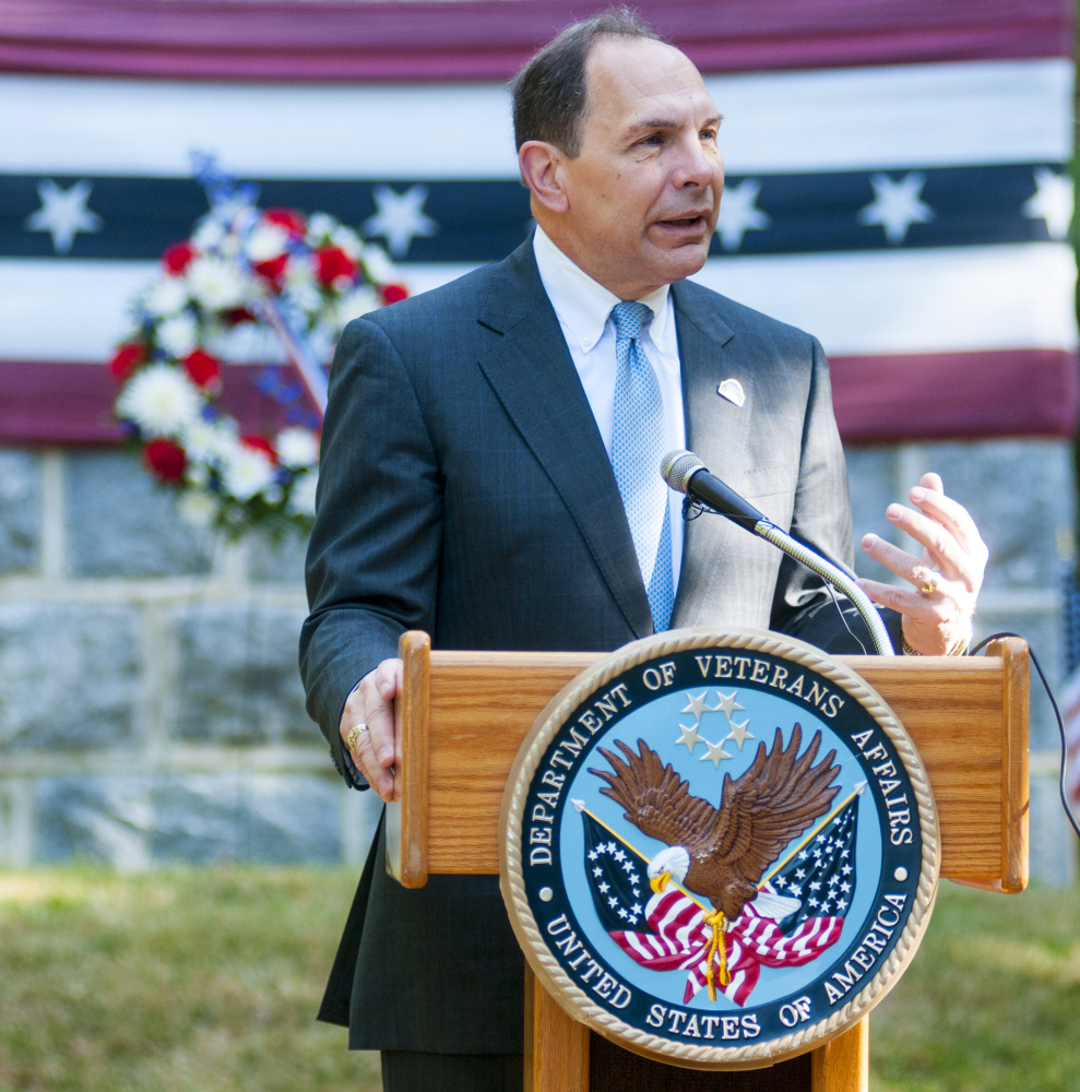 The Veterans Affairs Secretary Robert A. McDonald  during 150th celebration on Saturday at VA Maine Health Care System Togus.