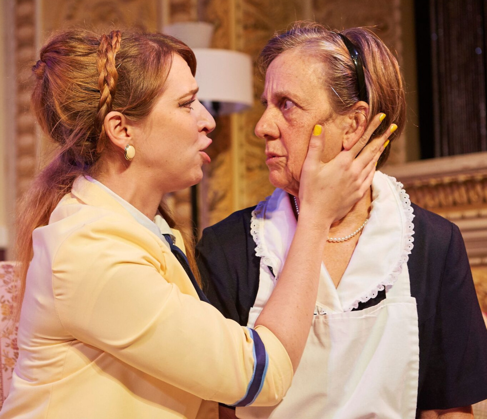 French farce delights at theatre at monmouth the for Farcical xword