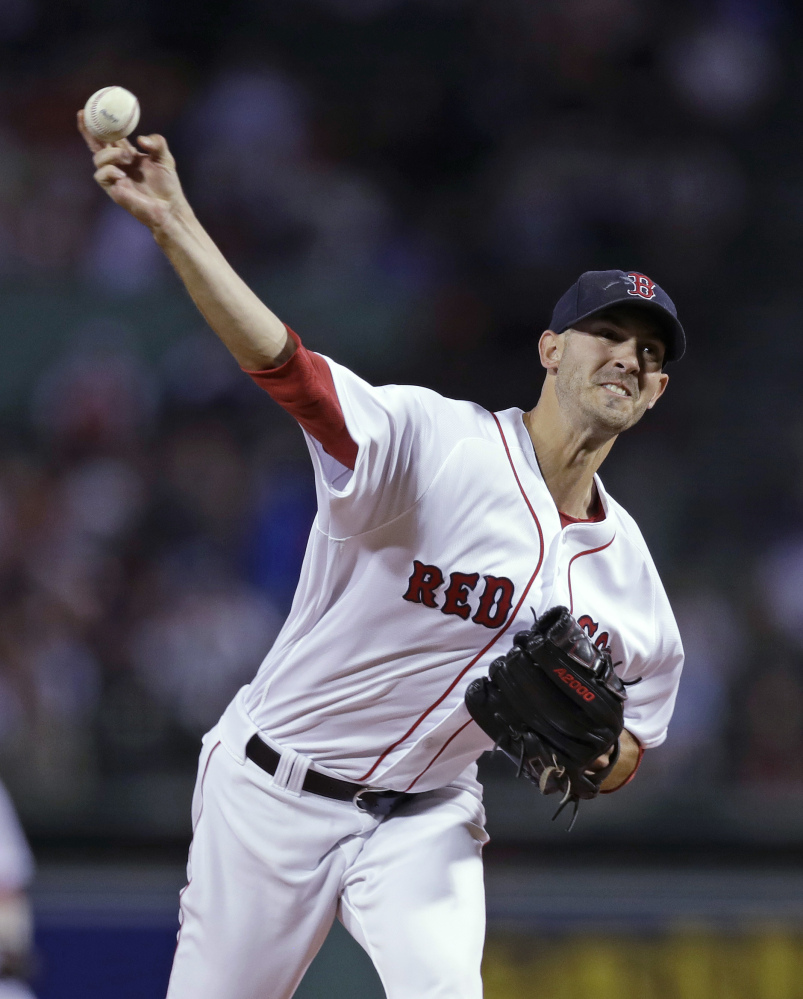 Red Sox starter Rick Porcello was dominant in pitching a complete game Monday night and picking up his 21st win of the season.
