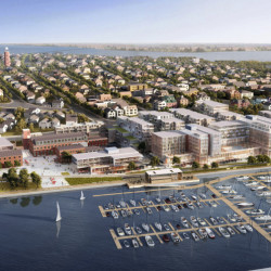 A 10-year master plan will be formally unveiled Wednesday, providing new details and renderings of a proposed redevelopment of the historic Portland Co. complex on Portland's eastern waterfront. The developer, CPB2, has submitted plans to the city showing a combination of historic brick buildings and contemporary structures as part of a sprawling complex that will include residential, office and retail spaces, as well as a new marina.