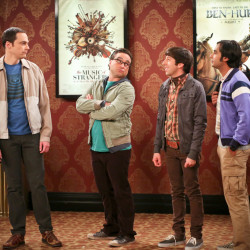 """Jim Parsons, from left, Johnny Galecki, Simon Helberg and Kunal Nayyar appear in a scene from """"The Big Bang Theory.""""  The four comedic actors are the highest-paid on TV."""