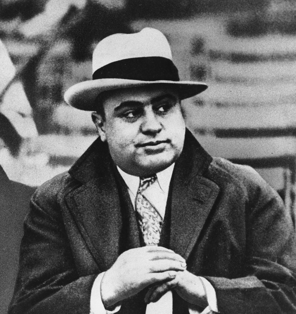 Chicago mobster Al Capone attends a football game in 1931. An intimate three-page letter to his son penned from prison suggests the racketeer had a soft side.