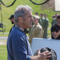 "Director Mel Gibson on the set of ""Hacksaw Ridge"" released by Summit Entertainment. (Mark Rogers/Lionsgate/TNS)"
