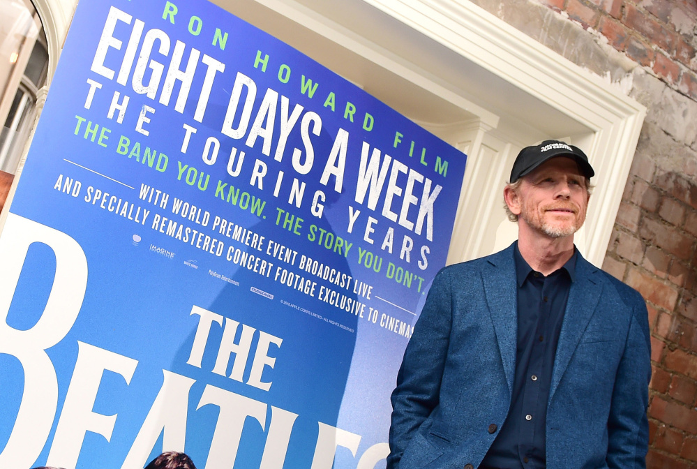"""Ron Howard attends the screening for new documentary, """"The Beatles: Eight Days a Week – The Touring Years,"""" at the Picture House Central cinema on Aug. 9 in London. (Ian West/PA Wire/Zuma Press/TNS)"""
