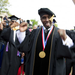 """Sean """"Diddy"""" Combs got an honorary degree from Howard University in 2014. He donated $1 million to the school Friday."""