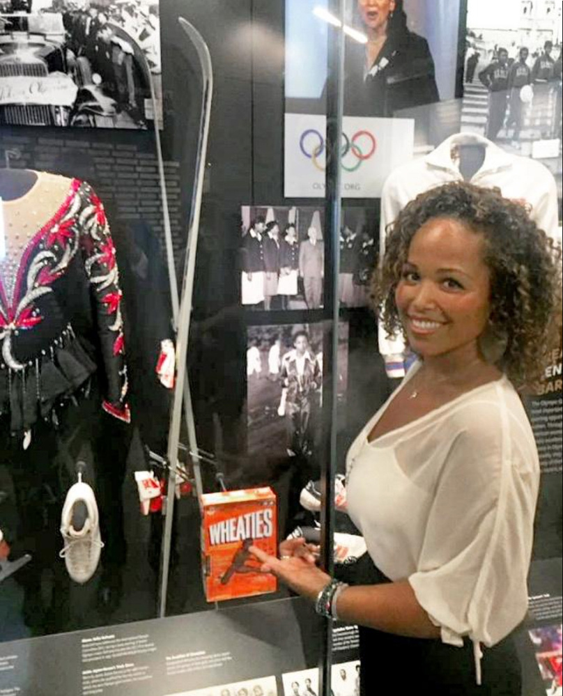 Seba Johnson, who lived in Kittery as a young girl, has a special connection to the Smithsonian's new National Museum of African-American History and Culture: the skis she used in the 1988 Winter Olympics in Calgary, where she was the youngest skier and the first black female Alpine skier to compete in the Games.