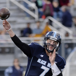 The Black Bears did not have a turnover this season until Dan Collins threw three interceptions in the second half against James Madison.