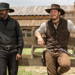 "Denzel Washington and Chris Pratt star in ""The Magnificent Seven,"" which enjoyed a $35 million weekend debut."