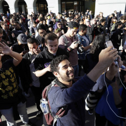 """Pokemon Go"" players begin a group walk in San Francisco in July. The app game was an instant hit back then, but experts say it needs to evolve to have real staying power."
