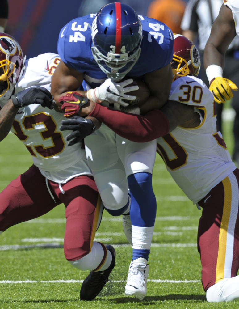 Giants running back Shane Vereen could miss the rest of the season after having triceps surgery Monday.