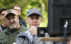 Zach Zamboni, center, award-winning cinematographer with TV chef and writer Anthony Bourdain's CNN programs, examines a camera angle on a monitor while leading a workshop at Maine Media Workshops in Rockport earlier this month. A Milo native, Zamboni now splits his year between Spain and Portland.