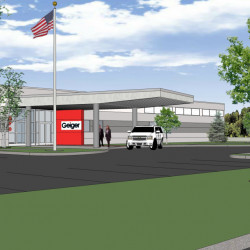 The 105,000-square-foot facility, show in this rendering, will be able to accommodate up to 275 employees, including an expected 25-50 new hires over the next three to five years.