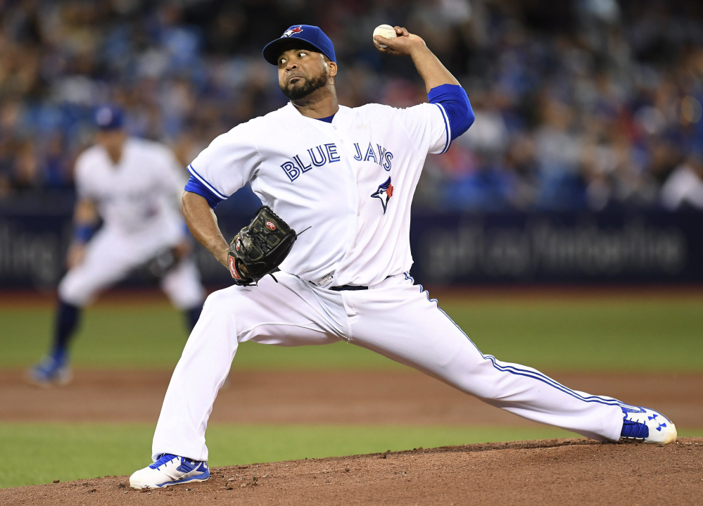 Toronto's Francisco Liriano struck out 10 in six innings, but Baltimore got a two-run homer in the ninth to beat the Blue Jays 3-2 at Toronto on Wednesday.