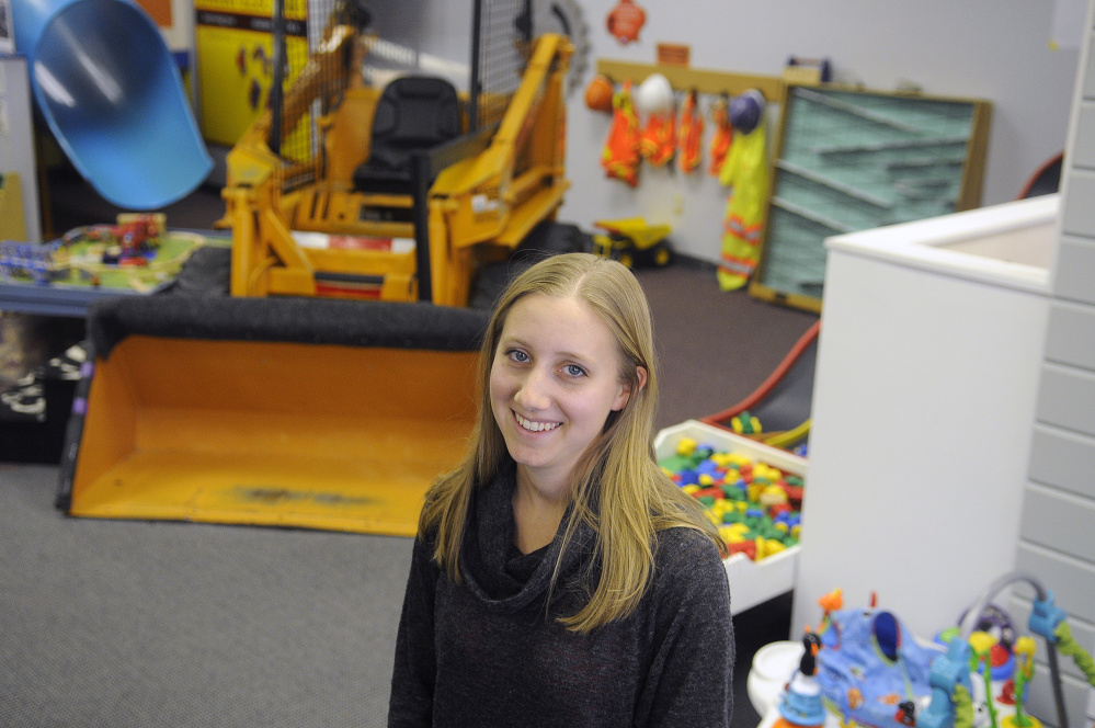 Children's Discovery Museum Executive Director Amarinda Keys stands in the Augusta learning center Thursday, the day the museum announced it is moving to Waterville.