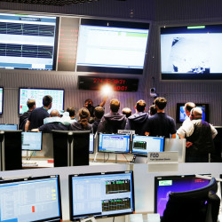The control room at the European Space Agency sea in Darmstadt, Germany, on Friday when Rosetta's mission was brought to end by crashing it into comet 67P/Churyumov-Gerasimenko.