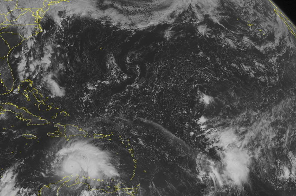 This NOAA satellite image taken Friday at 09:45 a.m. shows Hurricane Matthew over the south-central Caribbean Sea.