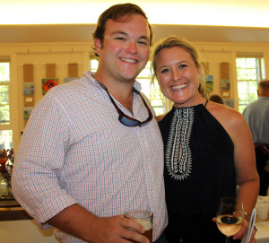 Sam LeGeyt of Yarmouth with Meaghan Reilly, representing sponsor MaineOrtho. were part of the second annual Taste of Tidewater at the Episcopal Church of Saint Mary in Falmouth.