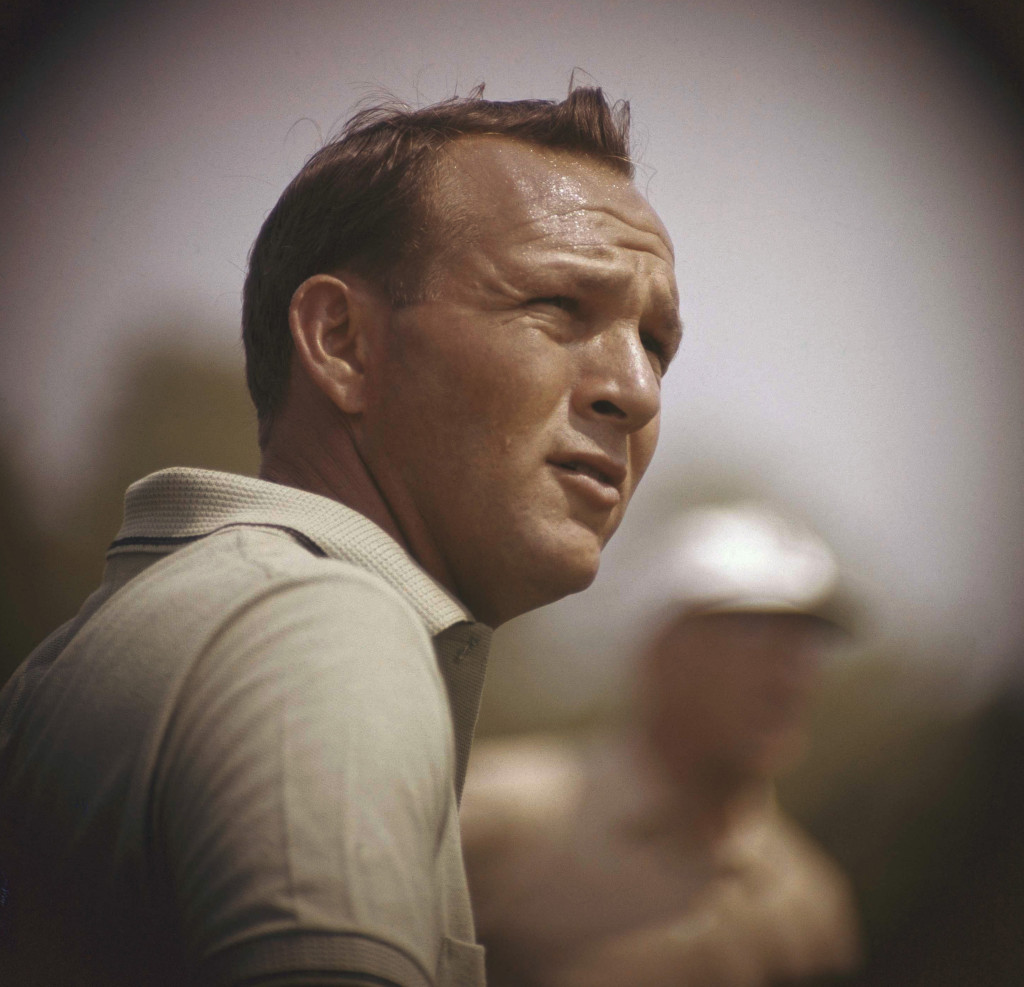 Arnold Palmer concentrates on his next move during the Lucky International Open in San Francisco in 1962.    Associated Press