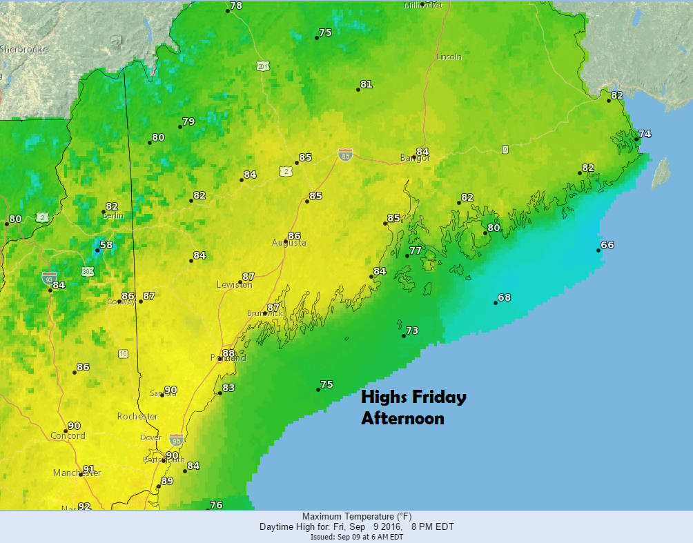 Temperatures Friday will approach 90 degrees for perhaps the final time this year