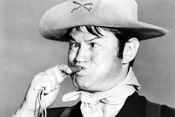 """Actor Larry Storch as Cpl. Randolph Agarn in a July 1, 1965, episode of """"F Troop."""""""
