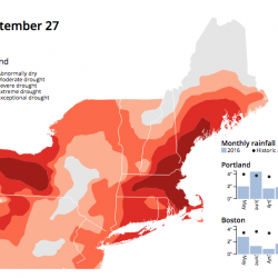 New England drought conditions on Sept. 27, 2016.