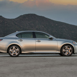 The base Lexus GS 200t achieves 22 mpg city, 33 mpg highway. Opting for the sportier GS 200t F-Sport reduces that to 21 and 30 mpg, respectively.