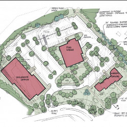 This development plan for the 7-acre property at 1945 Congress St. was approved by the Portland Planning Board on Tuesday.