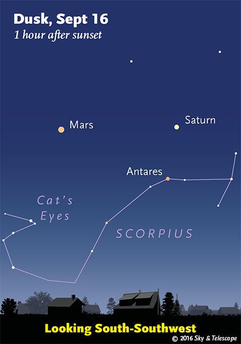 As the moon rises in the east you can catch some planets in the west