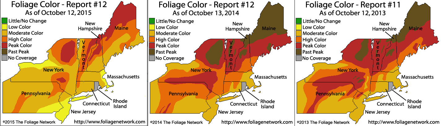 The warm weather last fall delayed foliage onset as compared to other recent years