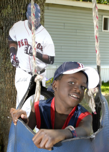"""Lucien Hodell, who lives in Harpswell, was invited to meet Big Papi in 2008 after he helped inspire a song about the Red Sox slugger """"Hey, Big Papi."""" Now 14, Hodell remains a staunch Red Sox fan."""