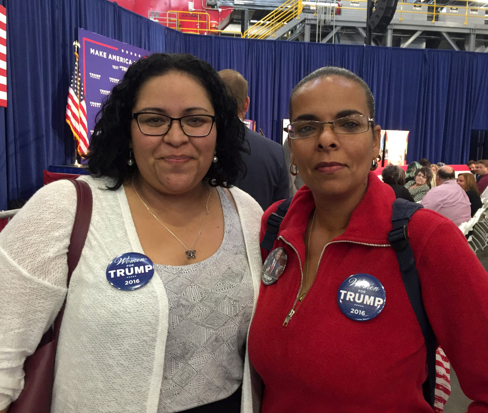 Karla Dentler and her mother, Eleanor Galletti, attend the rally.