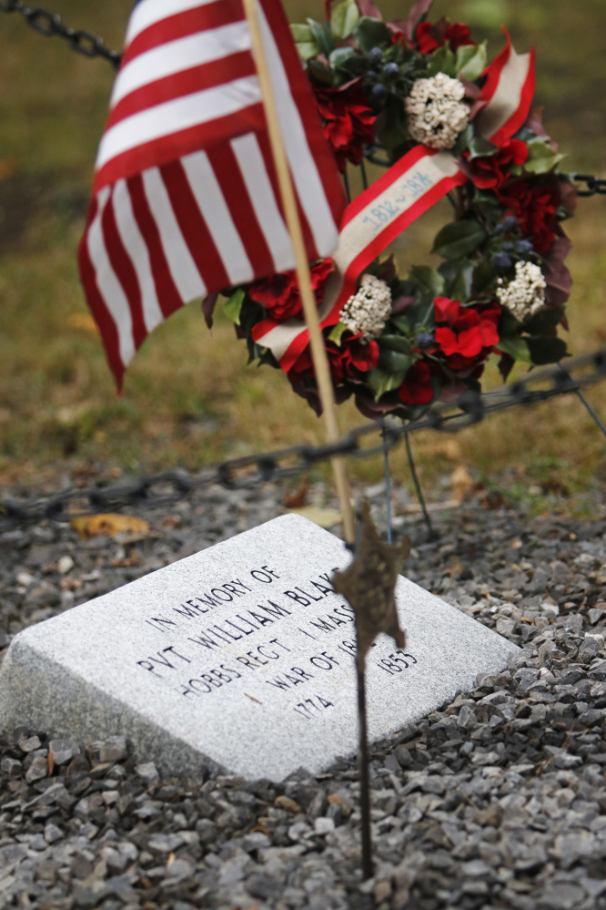 Pvt. William Blake is one of eight War of 1812 veterans buried in Grand Trunk Cemetery.