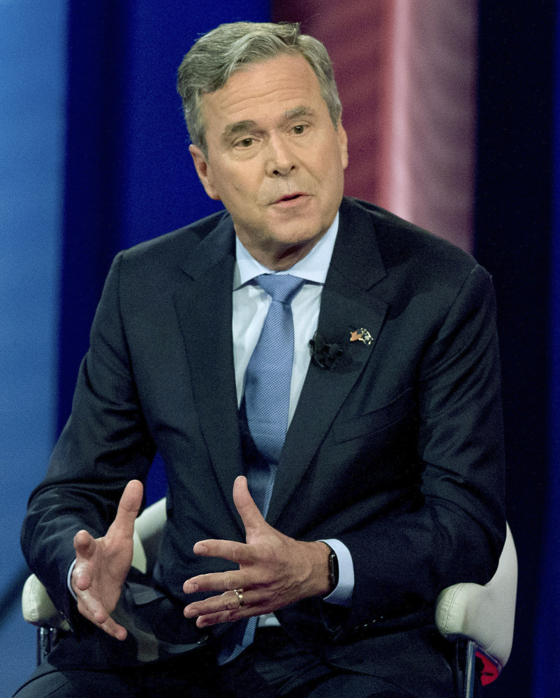 """""""As the grandfather of two precious girls, I find that no apology can excuse away Donald Trump's reprehensible comments degrading women,"""" Jeb Bush tweeted Friday."""