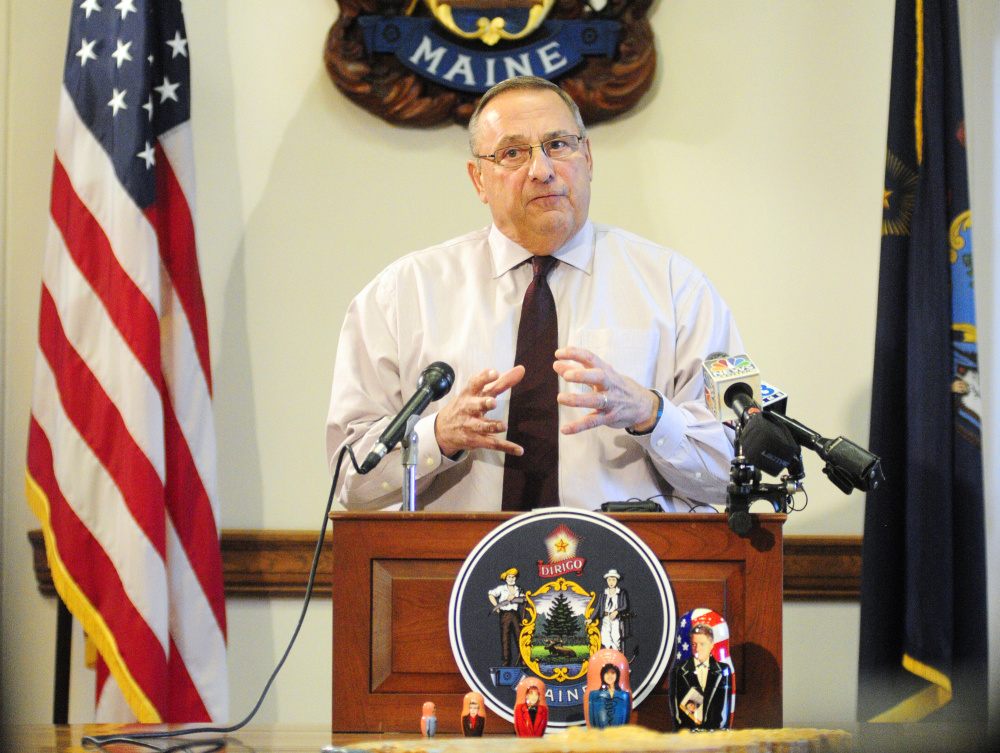 In calling for his political rivals to be jailed, Gov. Paul LePage echoed a tactic of Donald Trump.