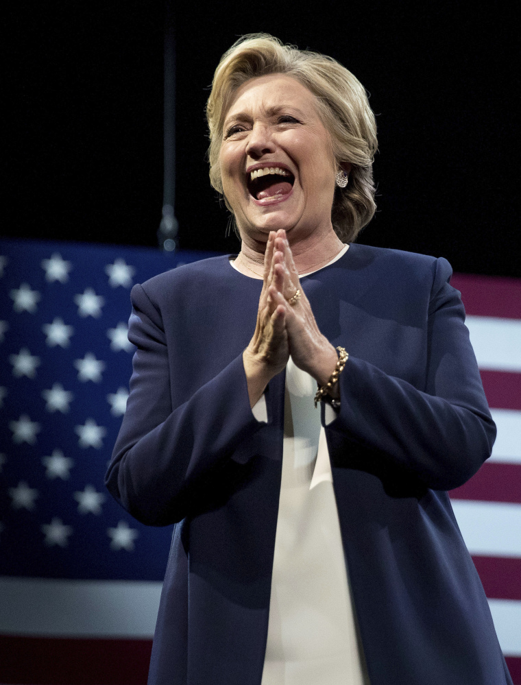 Democratic presidential nominee Hillary Clinton, at a fundraiser in San Francisco on Thursday, is being sued by Judicial Watch.